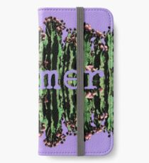 Cacti Summer Reflections Typography  iPhone Wallet/Case/Skin