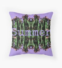 Cacti Summer Reflections Typography  Throw Pillow