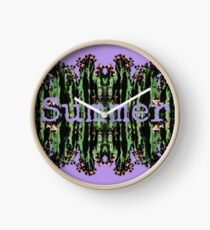 Cacti Summer Reflections Typography  Clock