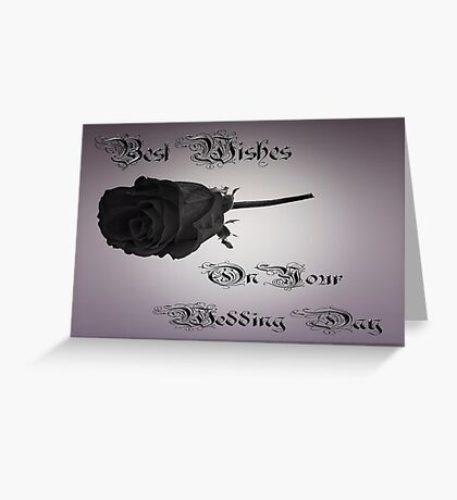 Best Wishes On Your Wedding Day Greeting Card