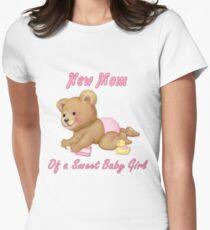Crawling Teddy - New Mom of Girl T-Shirt