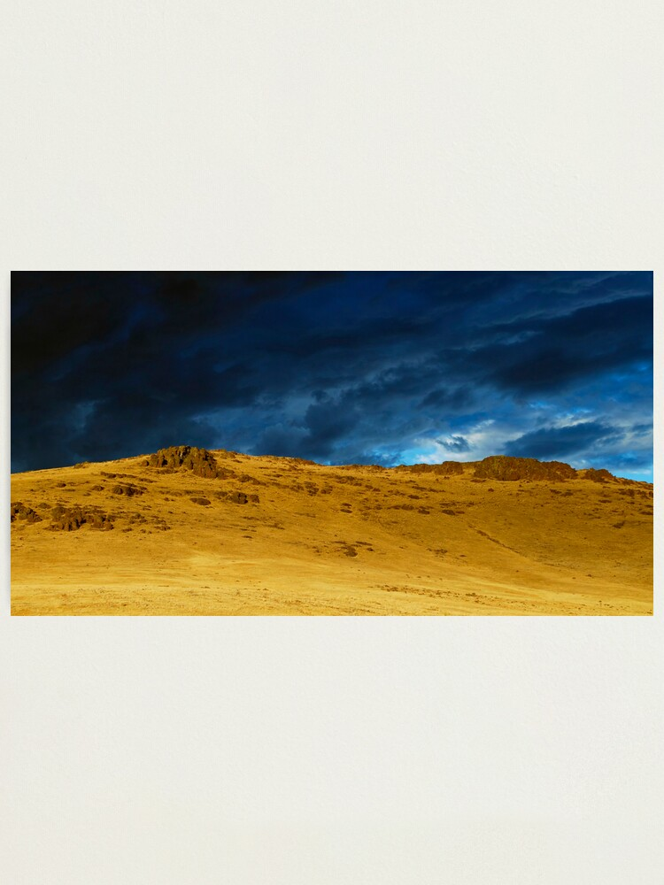 Alternate view of The Backside of a Desert Sunset Photographic Print