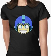 Mega Man - 1-Up Icon Womens Fitted T-Shirt