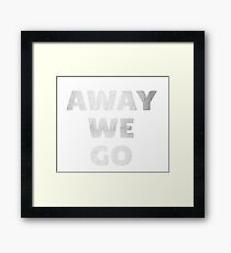 Away We Go in Silver Framed Print