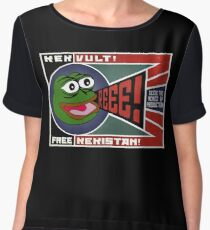 Pepe - Seize the Memes of Production! Chiffon Top