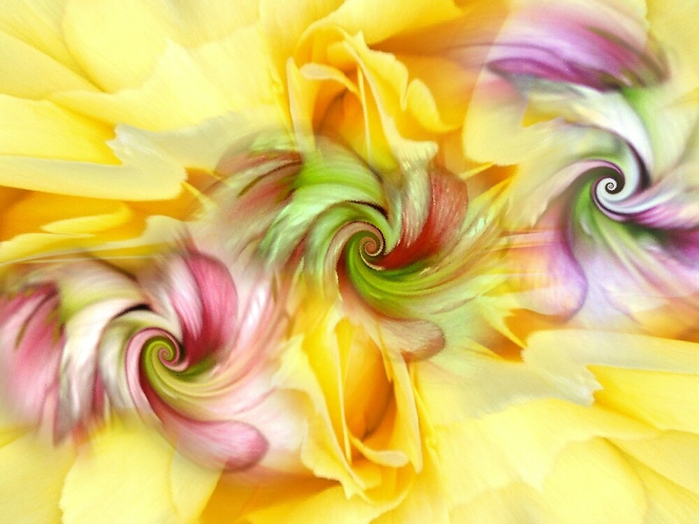 Flower Art Abstract.  by badbeeb