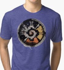 Good Vibes! Birds Flying in Abstract Sunset!!! Tri-blend T-Shirt