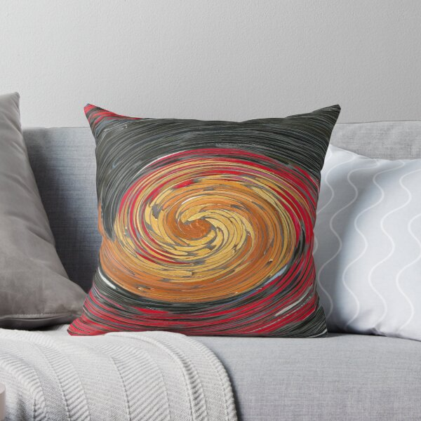 Darkness is Gathering in a Swirl Throw Pillow