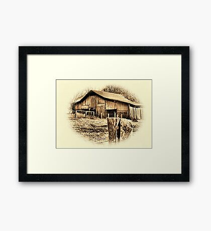 """""""Uncle Judd's Backyard""""... prints and products Framed Print"""