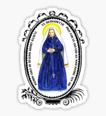 Saint Bernadette Patron of Healing Bodily Illness Sticker