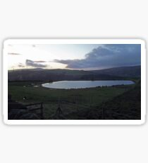Pond at dusk Sticker