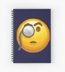 emoji monocle  Spiral Notebook