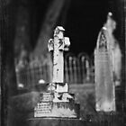 Angel on Cross - Graveyard Adornments #71 by Malcolm Heberle