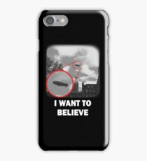 I WANT TO BELIEVE - Blimp version 2 iPhone Case/Skin
