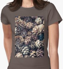 Tiny Pinecones Womens Fitted T-Shirt