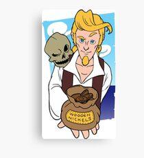 Guybrush and Murray - Monkey Island 3 Canvas Print