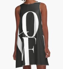 Love 01 A-Linien Kleid
