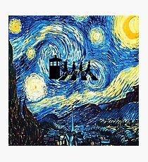 The Doctor Flying With Starry Night Photographic Print