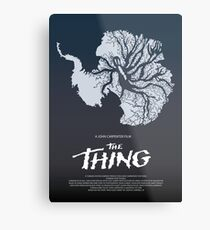 The THING Povie Moster Metal Print