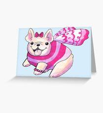 Fairy french Bulldog Greeting Card