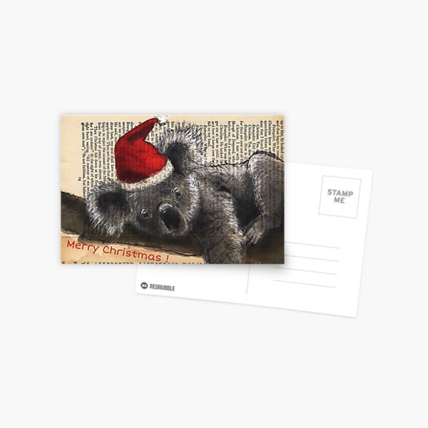 Christmas Koala Postcard