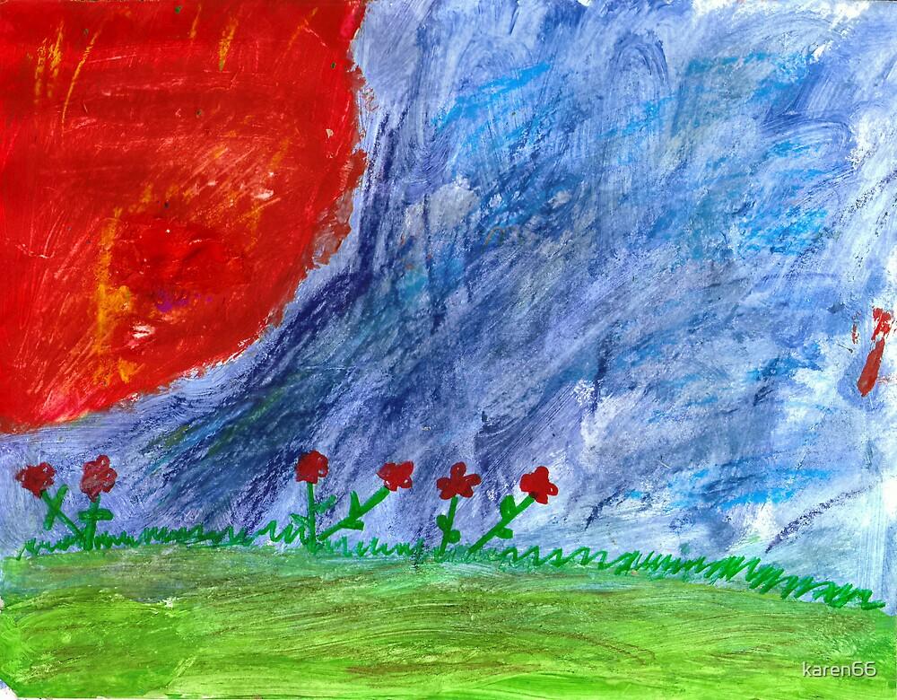 Sunrise Over Flowers by karen66