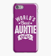 World's Best Auntie Ever iPhone Case/Skin