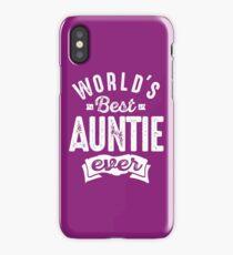 World's Best Auntie Ever iPhone Case/Skin