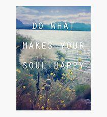 Happy Soul Photographic Print