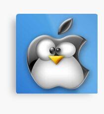 Linux Apple Metal Print