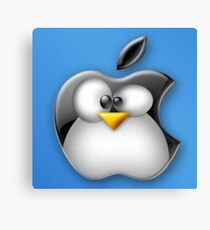 Linux Apple Canvas Print