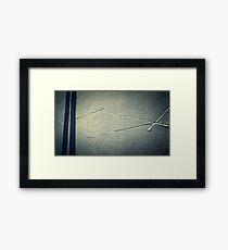 Criss Cross Concrete 2 Framed Print