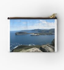 Crescent Bay and Brown Mt with Cape Raoul beyond Studio Pouch