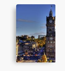 Looking up Waterloo Place Canvas Print