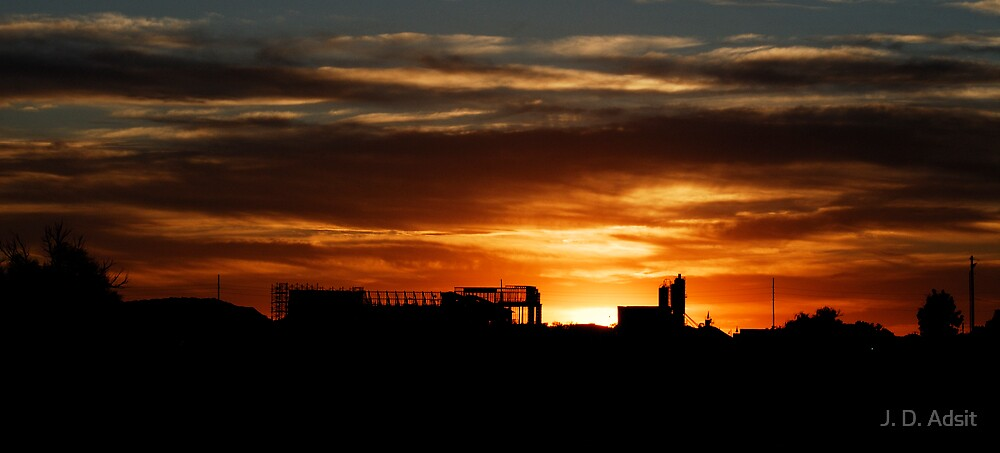 Potatoeland Sunset by J. D. Adsit