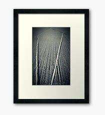Criss Cross Concrete 3 Framed Print
