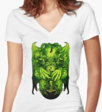 Lovecraft Cthulhu III Women's Fitted V-Neck T-Shirt