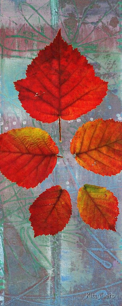 5 red leafs by KittyHerb
