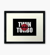 Twin Turbo Framed Print