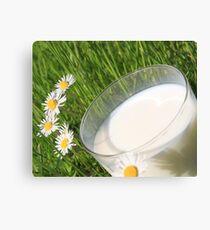 glass milk Canvas Print
