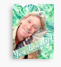 "Lámina metálica Steve Irwin ""Tu belleza"""