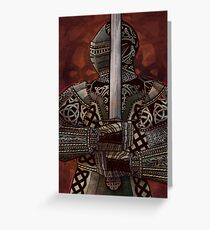 Celtic Knotted Knight Greeting Card