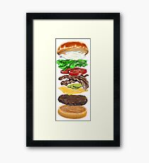 Bacon Cheeseburger Deluxe Framed Print
