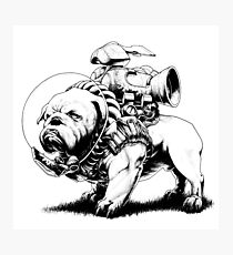 Jetpack Dog | Bulldog Photographic Print