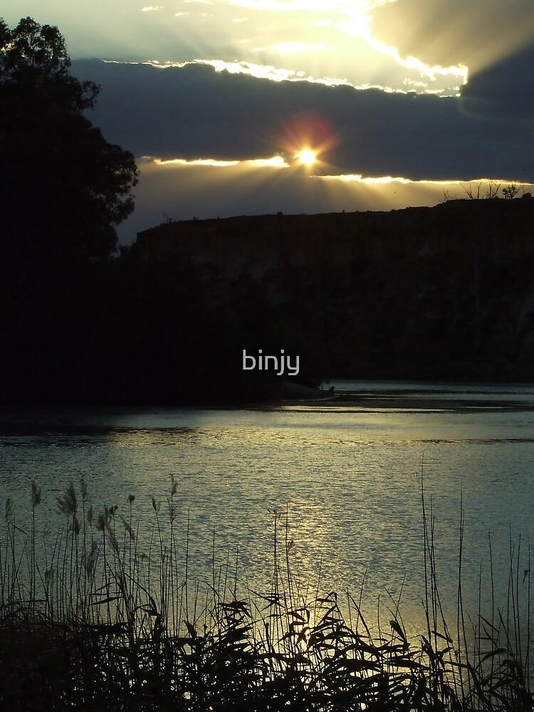 River Murray Sunset by binjy