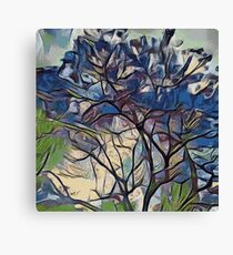BLUE TREE PAINTING  Canvas Print