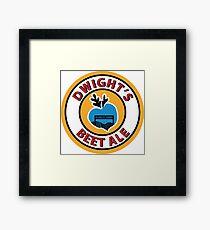 Dwight's Beet Ale. Framed Print