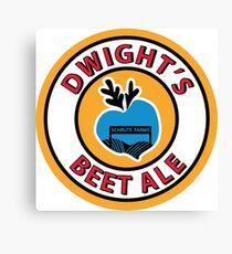 Dwight's Beet Ale. Canvas Print