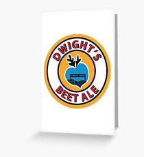 Dwight's Beet Ale. Greeting Card