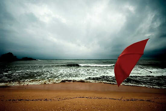 Red Umbrella II by Bogac Erguvenc